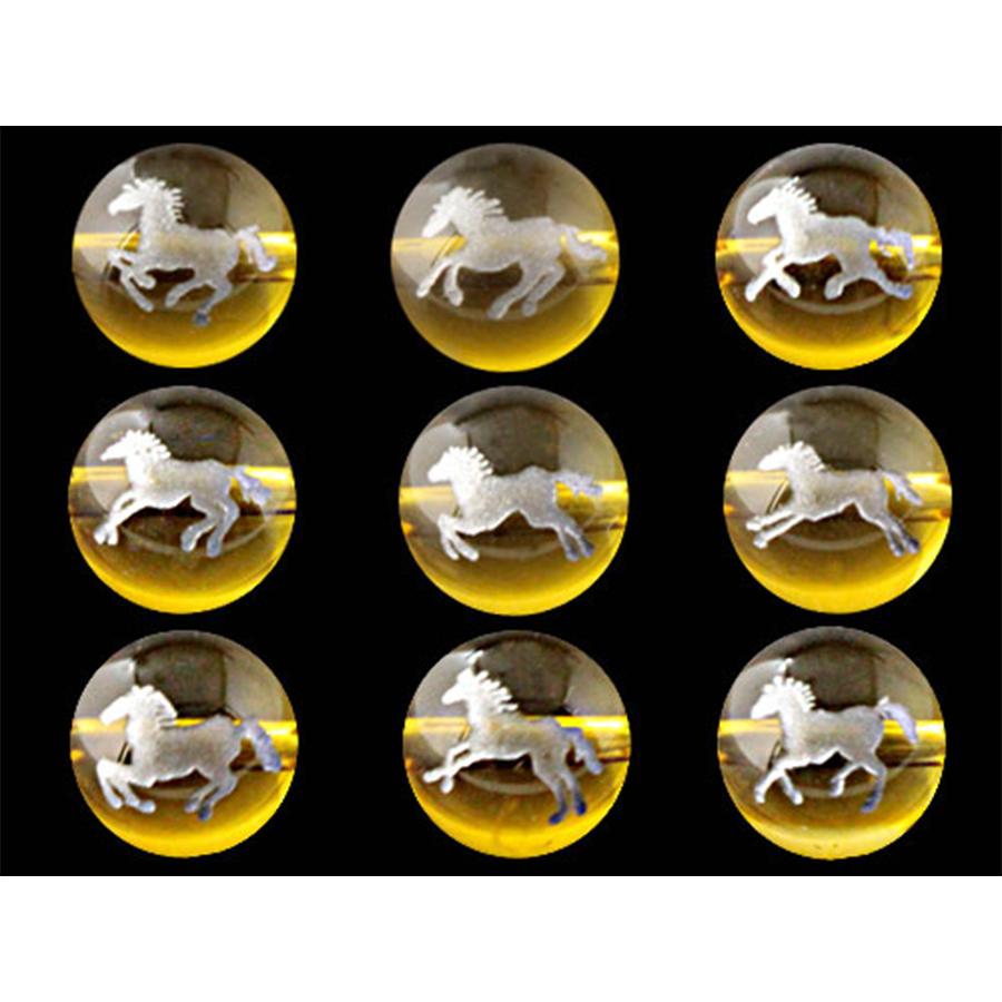 【商売繁盛・立身出世・金運招来・健康長寿・夫婦円満・縁談成就・豊漁豊作・必勝祈願】九頭馬と馬蹄のブレスレット(黄水晶)