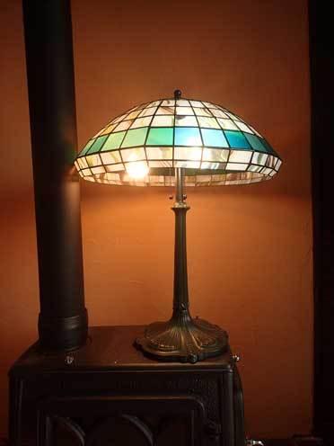 アブストラクト(ティファニーランプ)(ステンドグラスのテーブルランプ) 01040008
