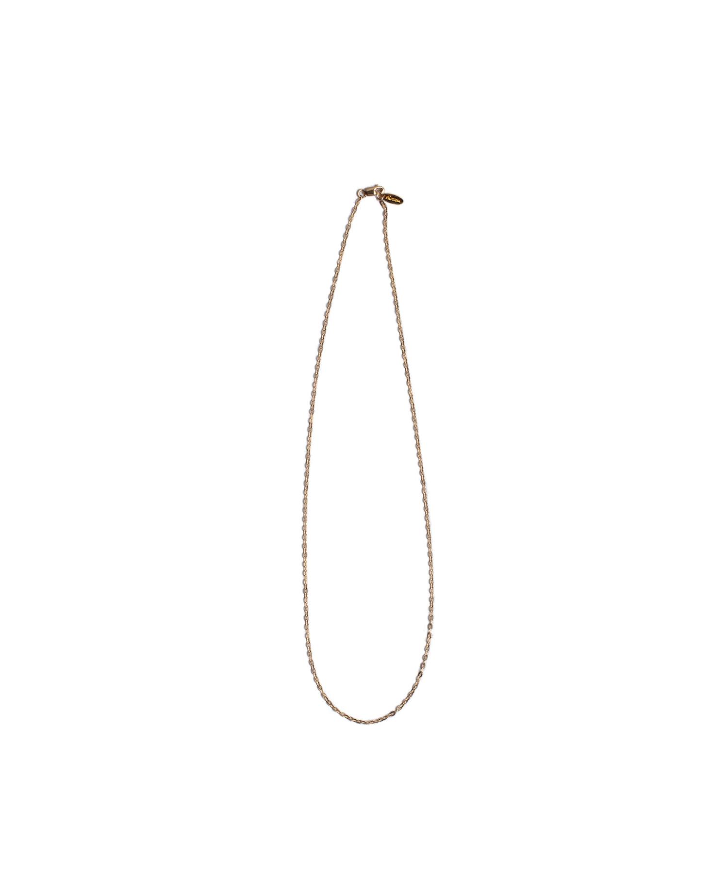 14KGF FLAT CABLE CHAIN NECKLACE 45cm [REA091]