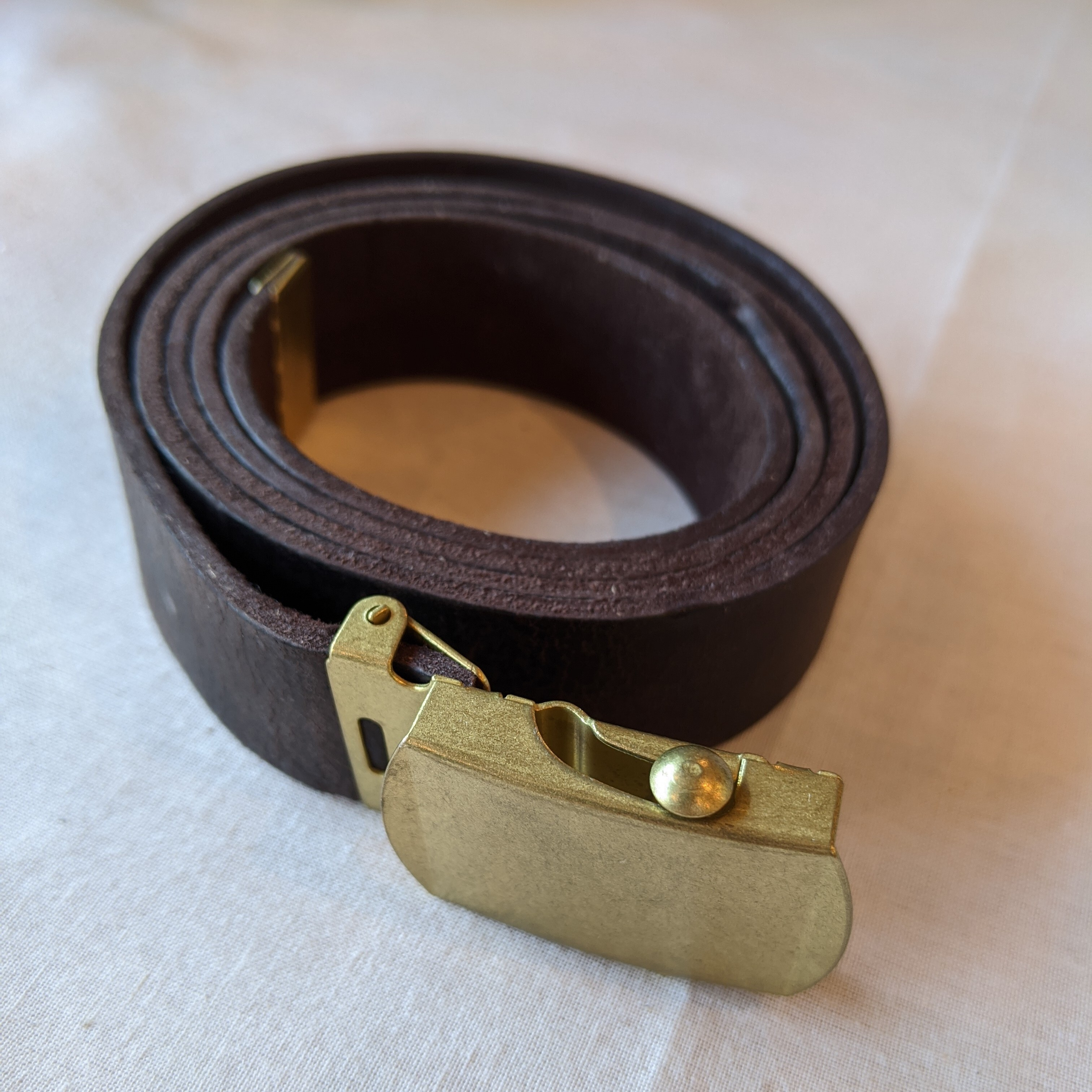 【 saranam 】サラナン Kudu  leather belt / クーズー ガチャベルト / gaucho, b.choco