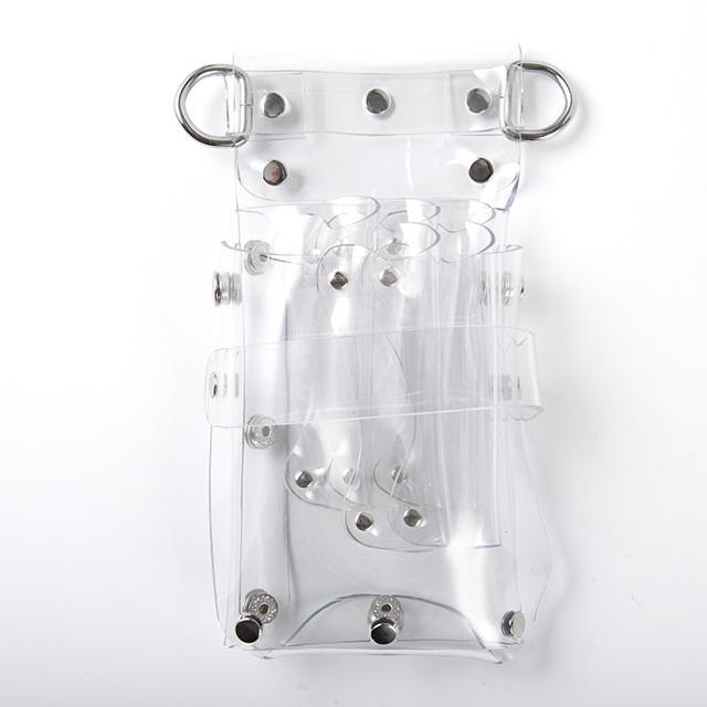 クリア(透明)シザーケース・5丁収納・ベルト腰・肩使用(通常価格12,000円)