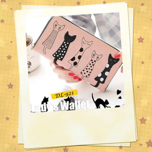 可愛い 猫ちゃん 長財布 レディース