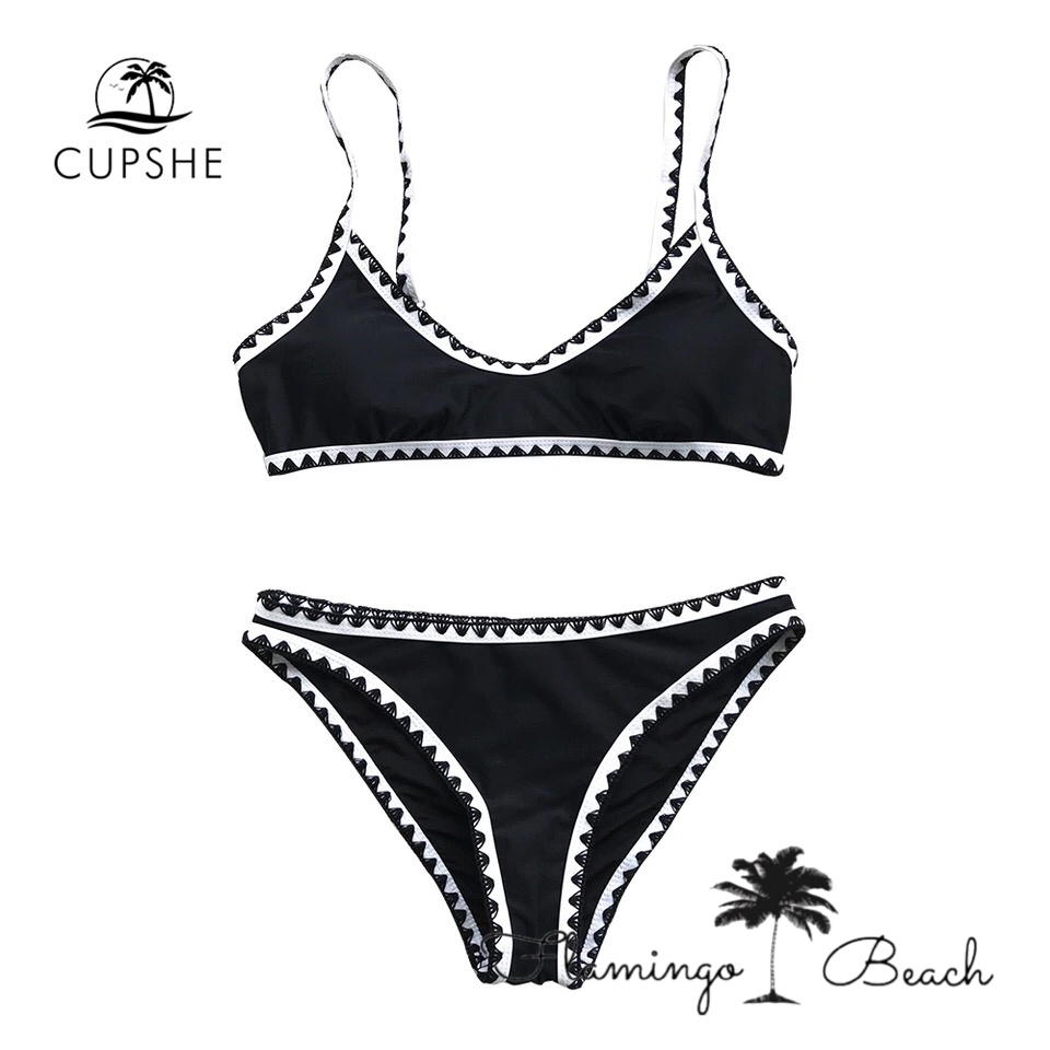 【FlamingoBeach】black bikini