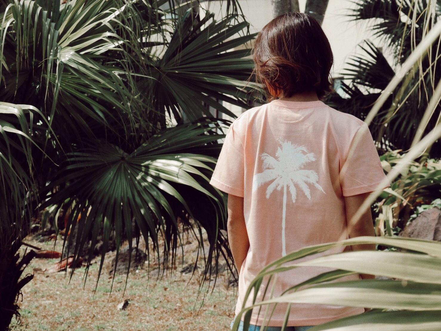 【Fine7月号掲載】Palm tree Tシャツ (peach)