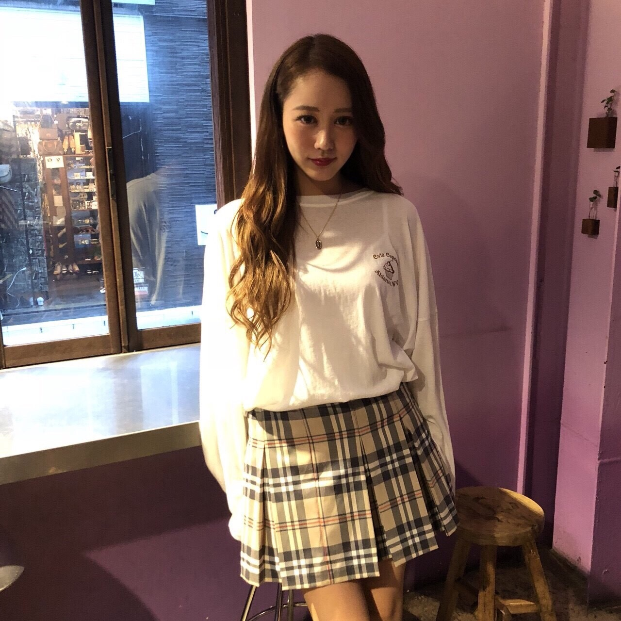 【近日再入荷】tartan check pleats skirt