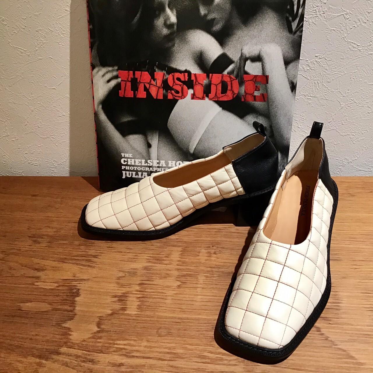 F UMIETANAKA F20A-60qullting leather shoes colar white size 36 1点 37 1点