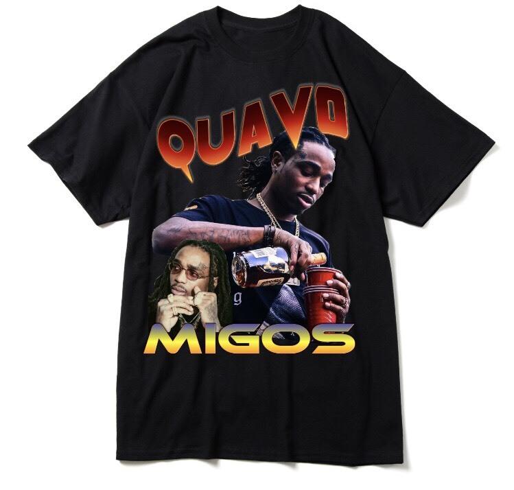 "BOOTLEG RAP T-Shirts ""QUAVO"" BLACK"