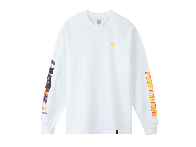 HUF|COLLAGE L/S TEE WHITE
