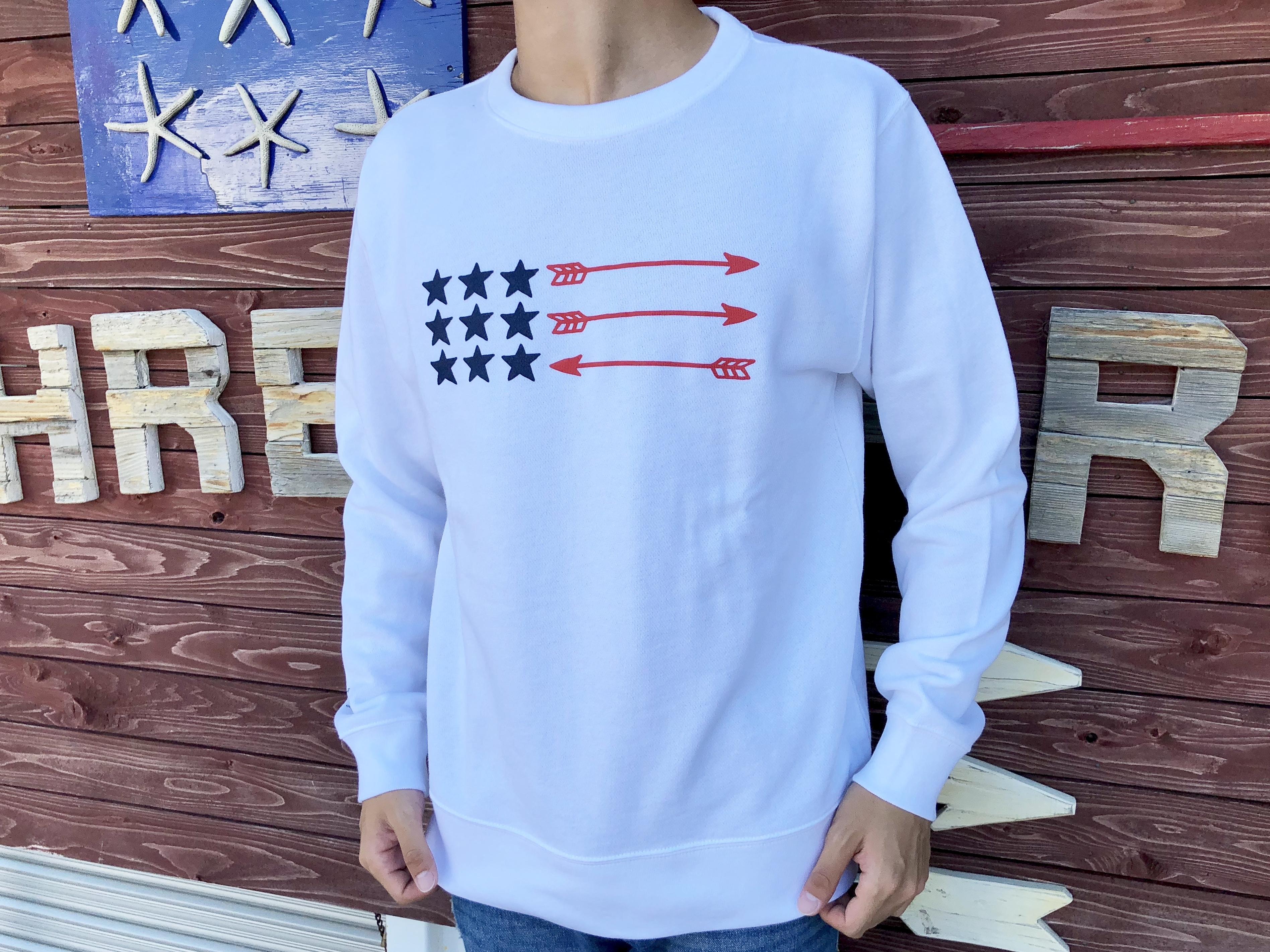 USA ArrowFlag スウェット(white)