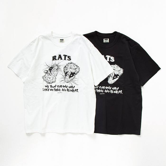 "RATS(ラッツ) / RATS×Hirotton TEE""OUR OWN WAY""(20'SPT-0701)(コラボTシャツ)"