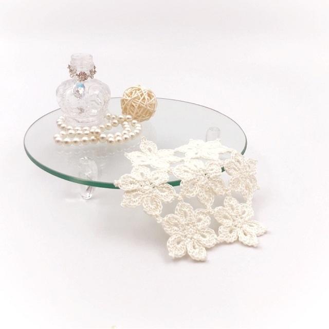 Hana 花レースドイリー*ホワイト