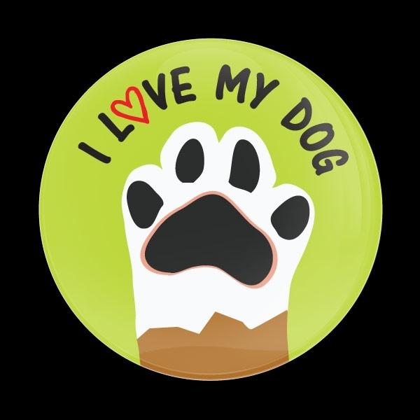 ゴーバッジ(ドーム)(CD0993 - I LOVE MY DOG) - 画像1
