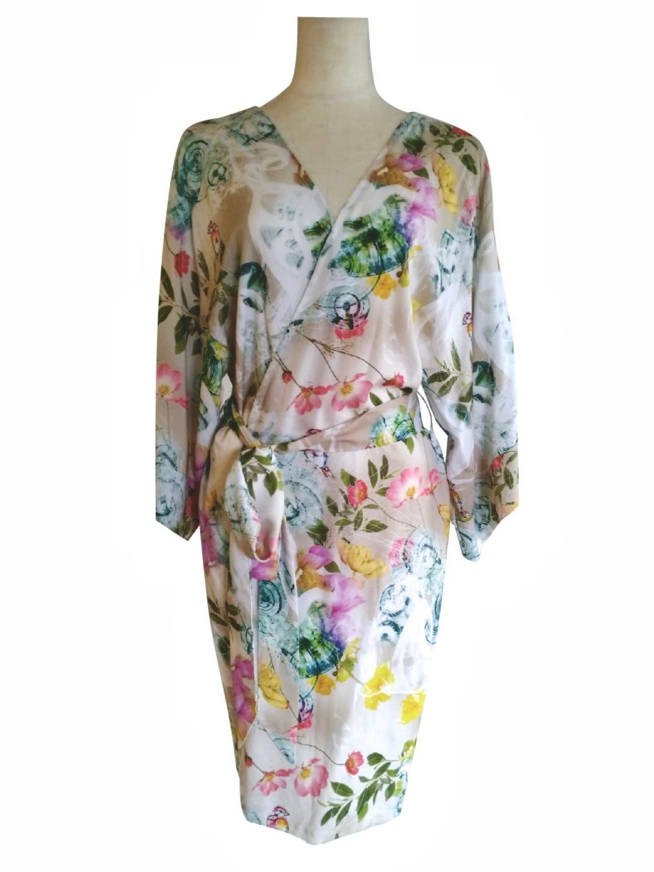 Kimono Robe Midium length Bird Cottage ローブミディアム丈 バードコテージ