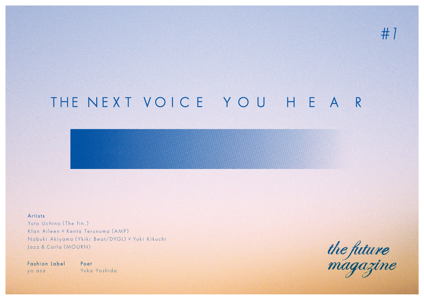 THE NEXT VOICE YOU HEAR
