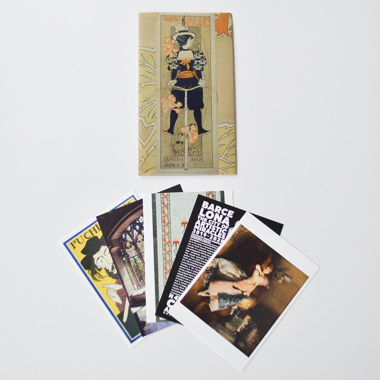 「奇蹟の芸術都市 バルセロナ」展 チケットフォルダー / ポストカード5枚セットB