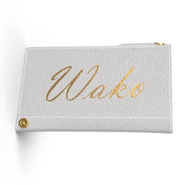 Custom Name Mini Wallet  Premium Shrink Leather (Limited/数量限定8月分)