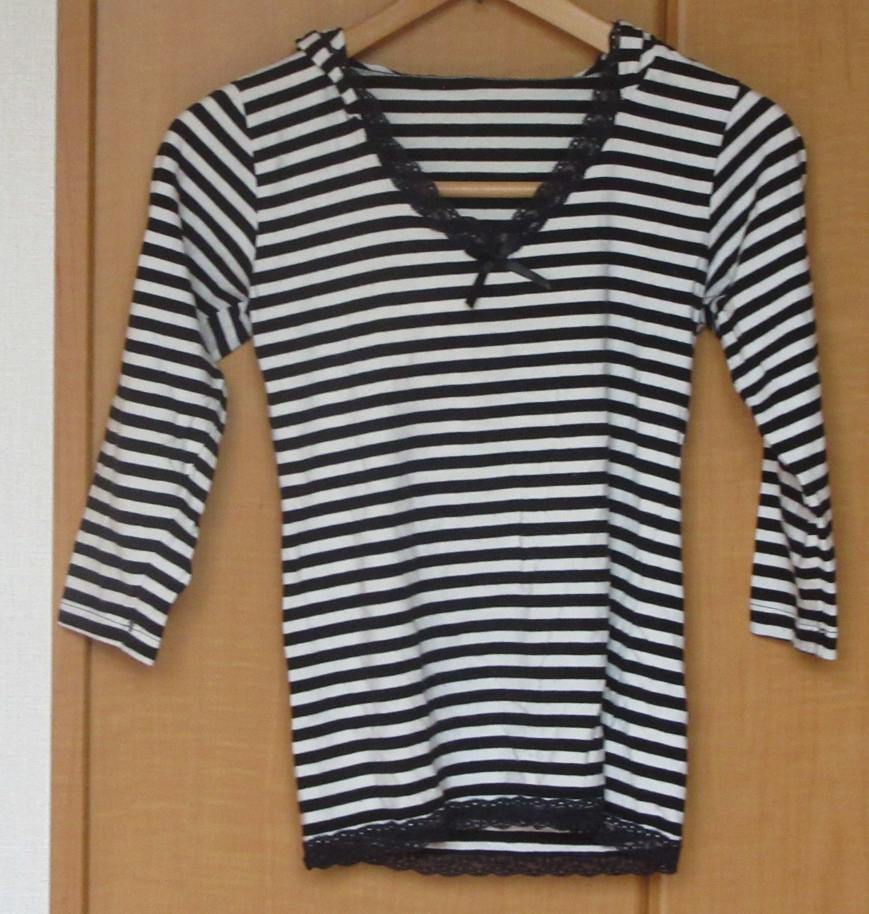 Tシャツ ボーダー フード付 Sサイズ リセール商品