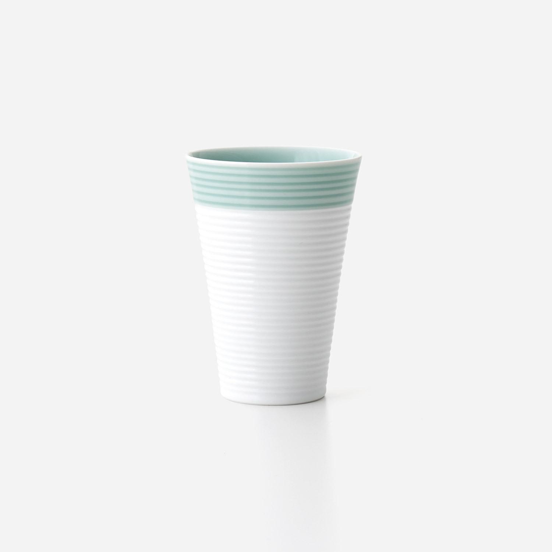 青磁白彩 フリーカップ(小)