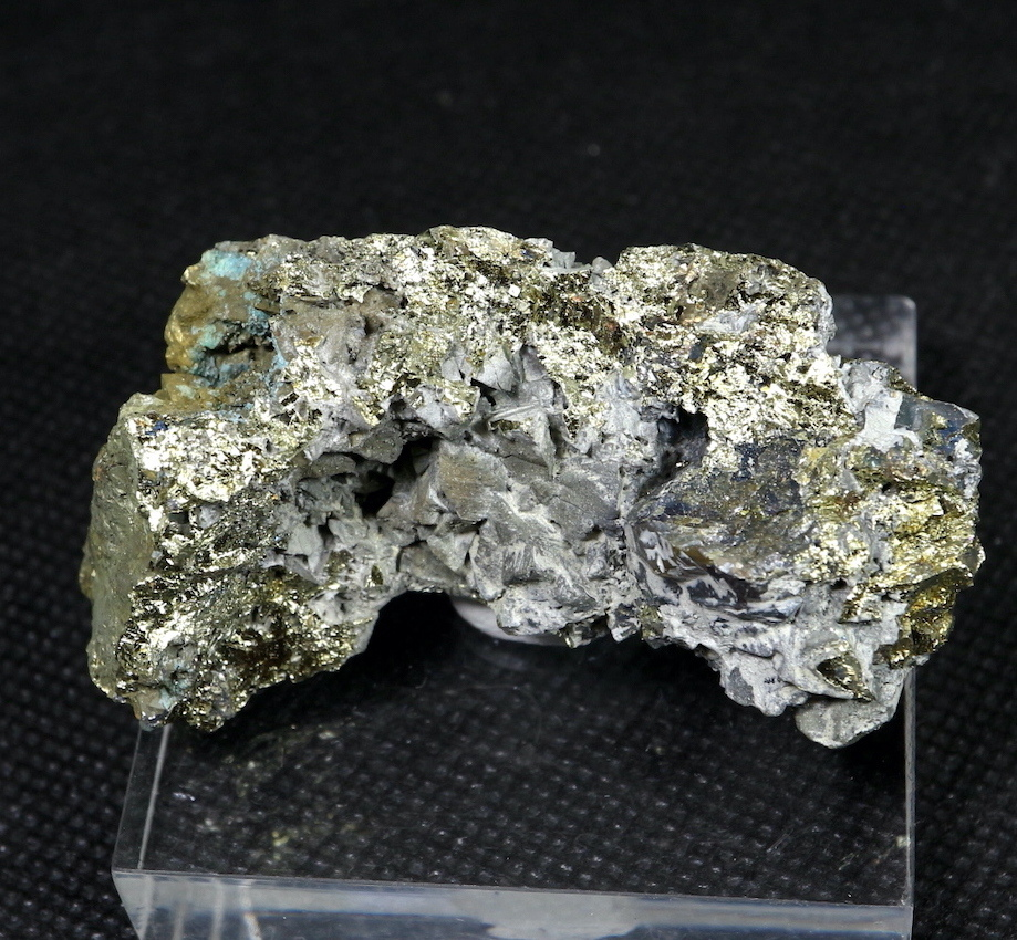 秋田県鹿角市 不老倉鉱山! 黄銅鉱 キャルコパイライト 水晶 64,9g  CHP021 鉱物 天然石 原石 パワーストーン