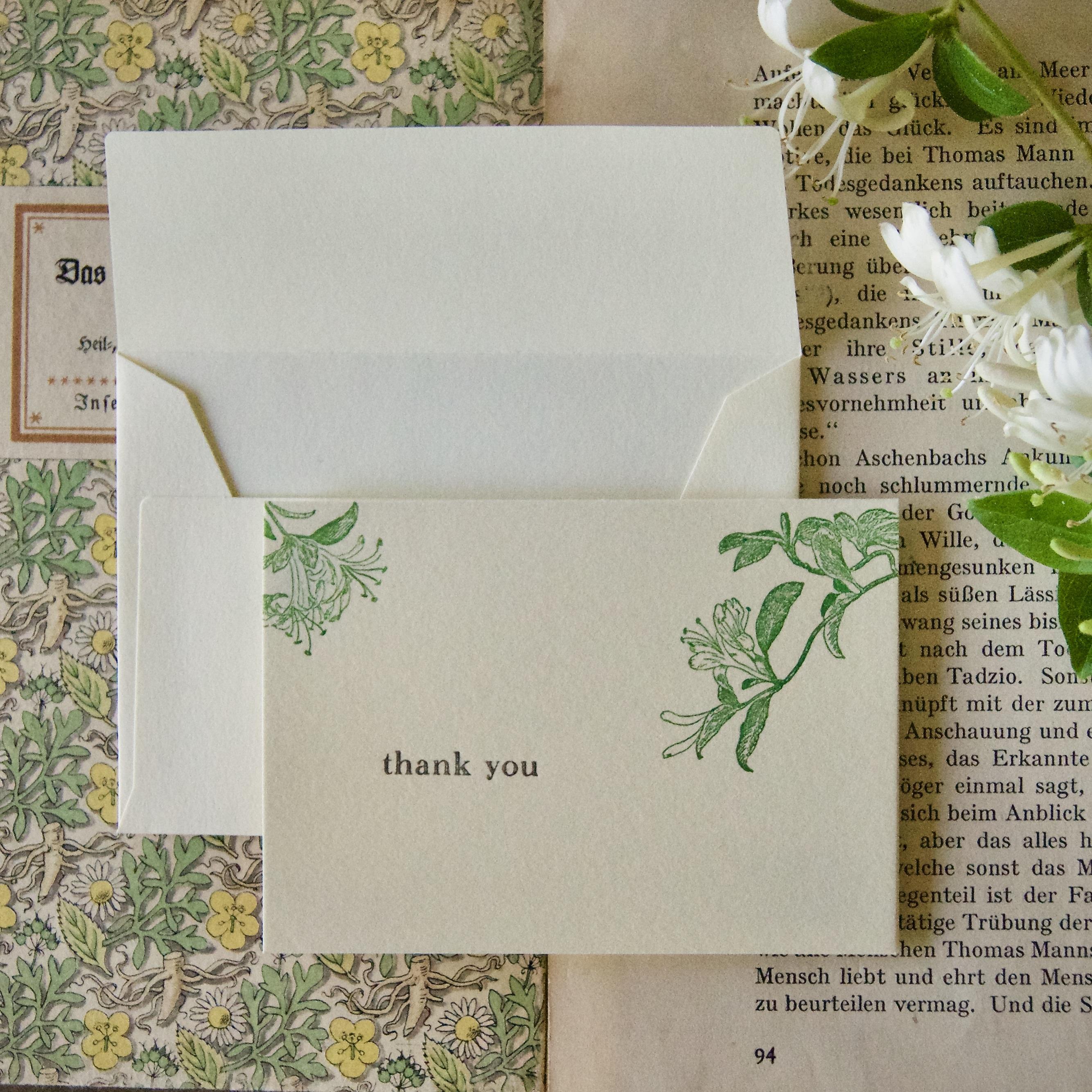【thank you カード】  スイカズラ / カード1枚+封筒1枚