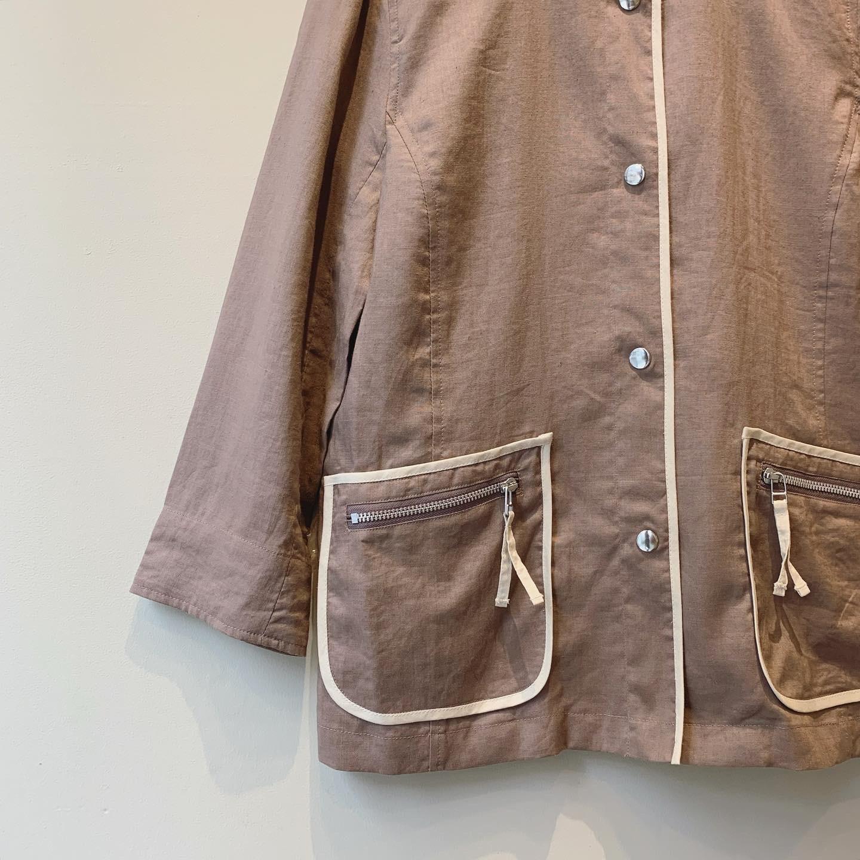 vintage stand collar design tops