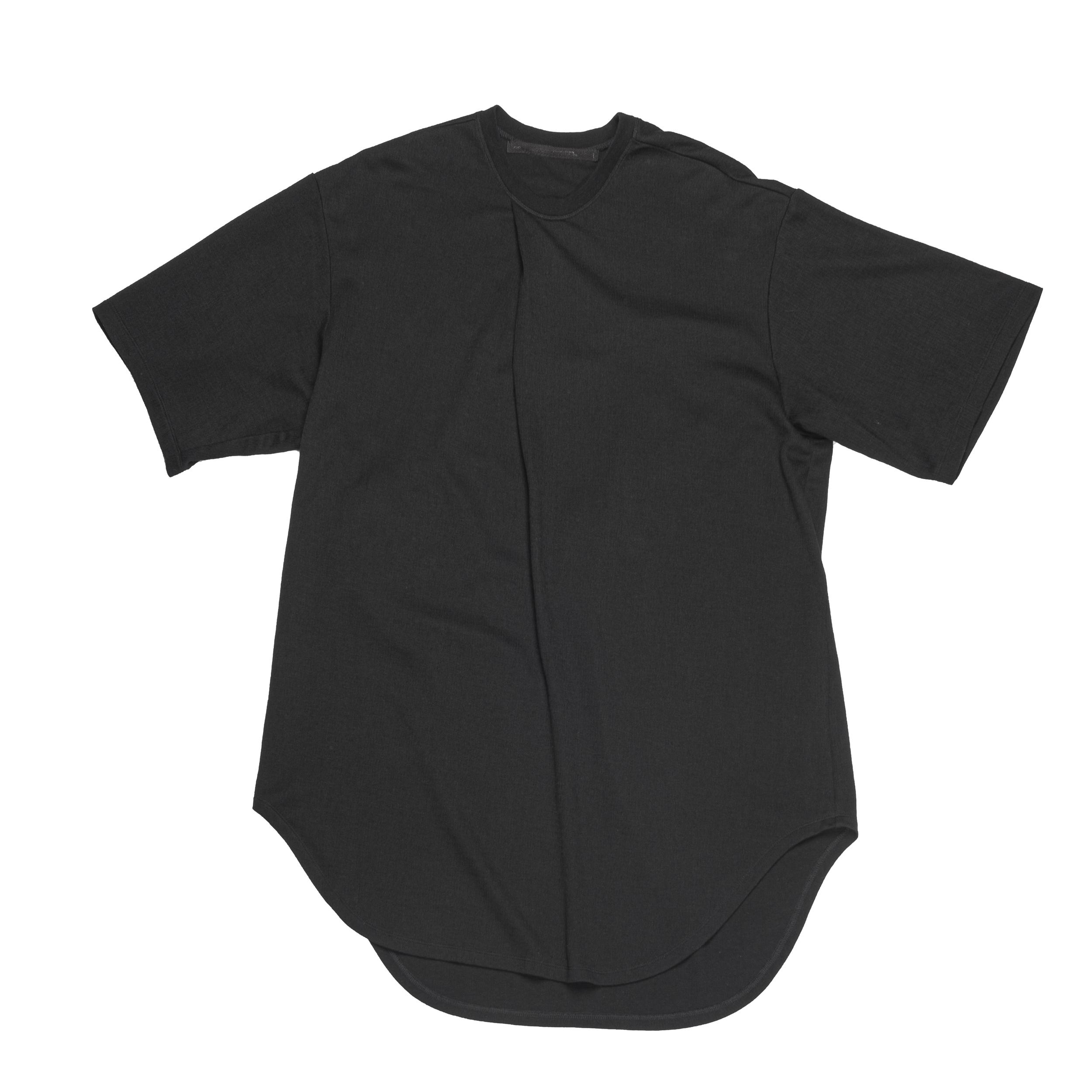 667CUM3-BLACK / タックドTシャツ