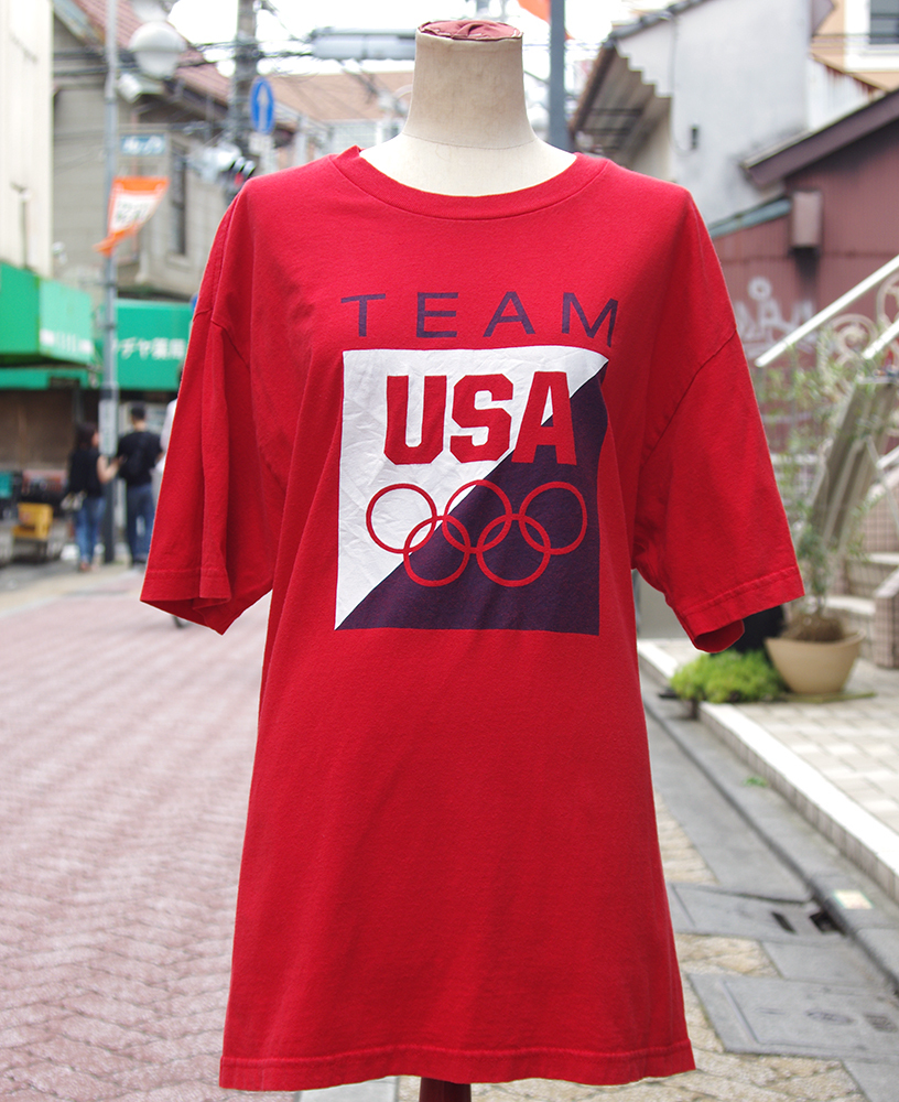 "【USED】 T-shirt ""TEAM USA"" Mens/L-size"