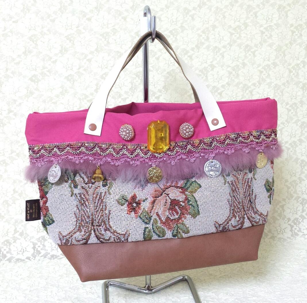 トートバッグS【きれいめピンク】