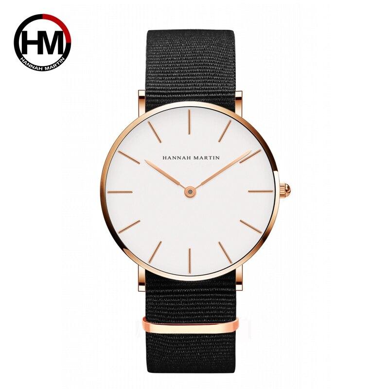 ジャパンクォーツムーブメントアナログファッションカジュアルウォッチナイロンストラップ腕時計ブランド女性用防水腕時計CB36-FN