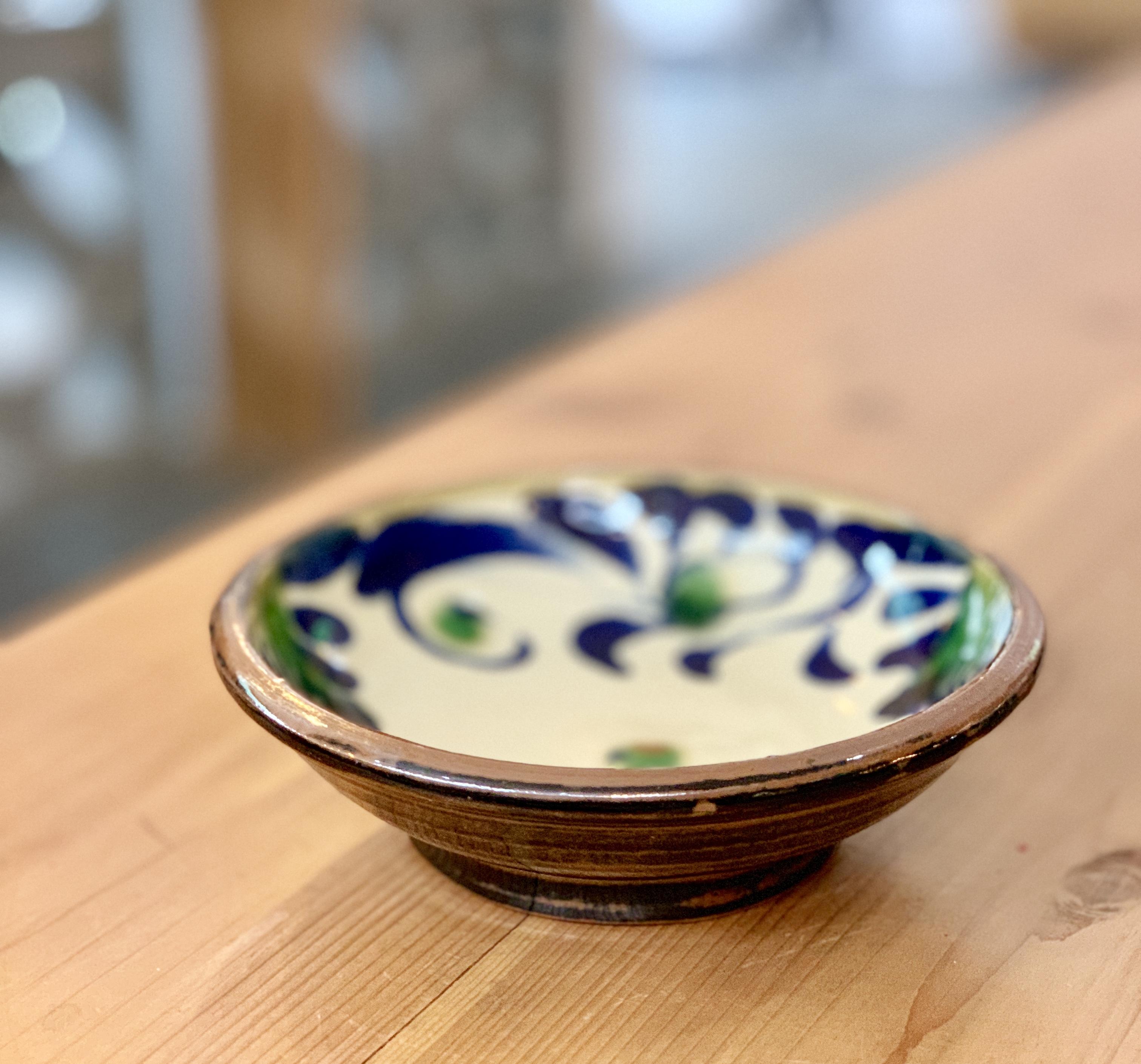 6寸 鉢 福田陶器 (唐草模様)