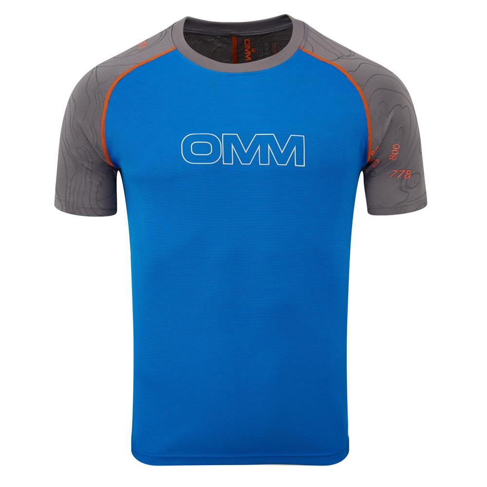 【30%OFF】OMM/オーエムエム/オリジナルマウンテンマラソン Flow Tee S/S(Grey/Blue) OC08500SBG