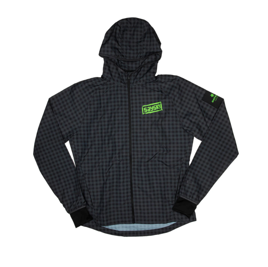 【NEW!】SAYSKY セイスカイ ランニングジャケット FTN Pace Jacket - ASPHALT CHECKERBOARD [ユニセックス] FMRJA04