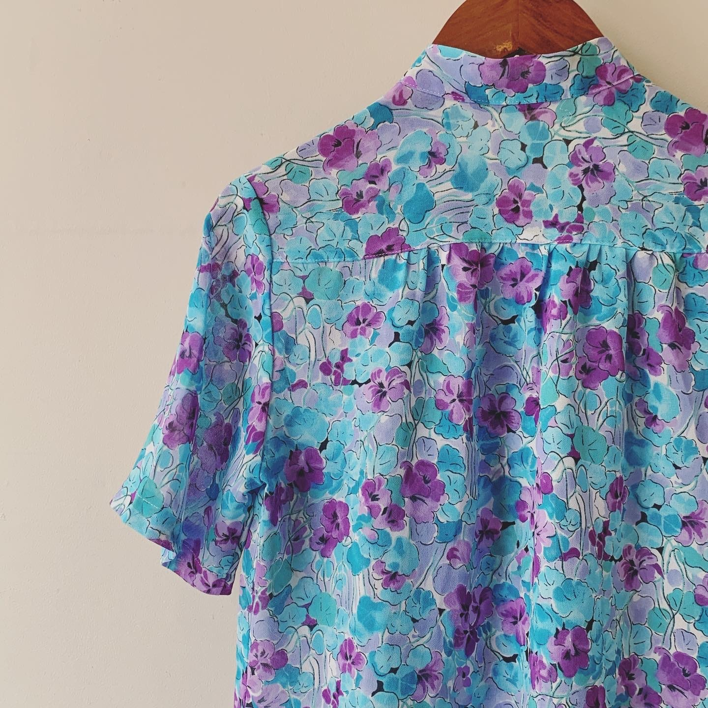 【SALE】vintage flower sheer tops