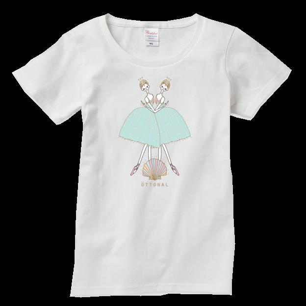海と真珠 Tシャツ(レディース) - 画像4