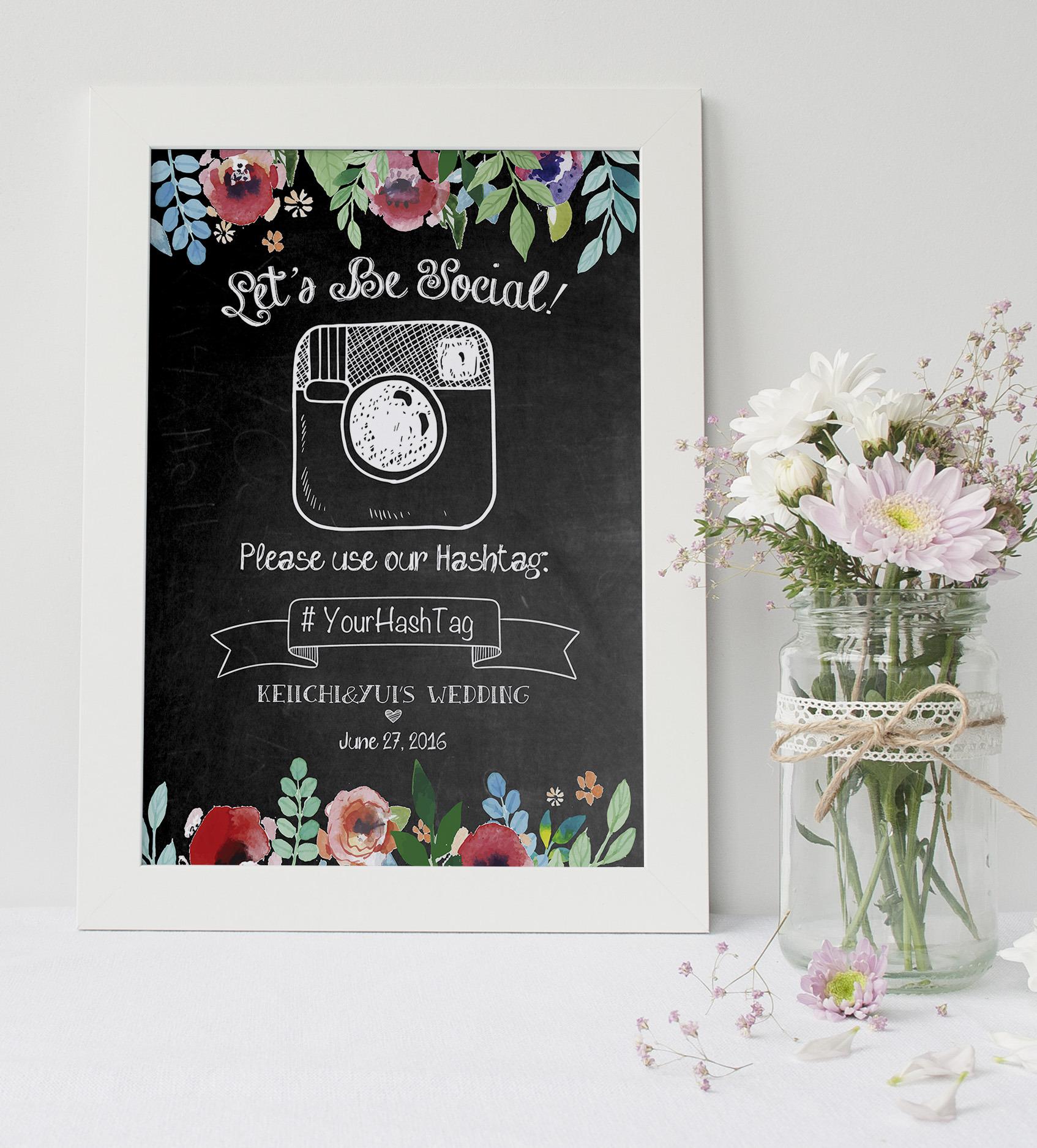 50%OFF!!【チョークボード】SNSインスタハッシュタグサイン│黒板 チョークアート ウェルカムボード ウェディングツリー  結婚式