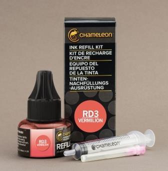 Chameleon Pen Ink Refill 25ml Vermilion RD3 (カメレオンペン 詰替え用インク RD3)