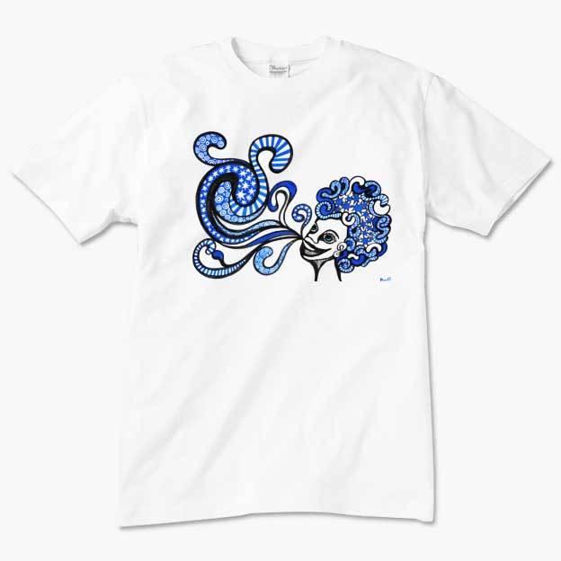 ◆メンズTシャツ◆ ブルーラッパー 親子コーデ対応