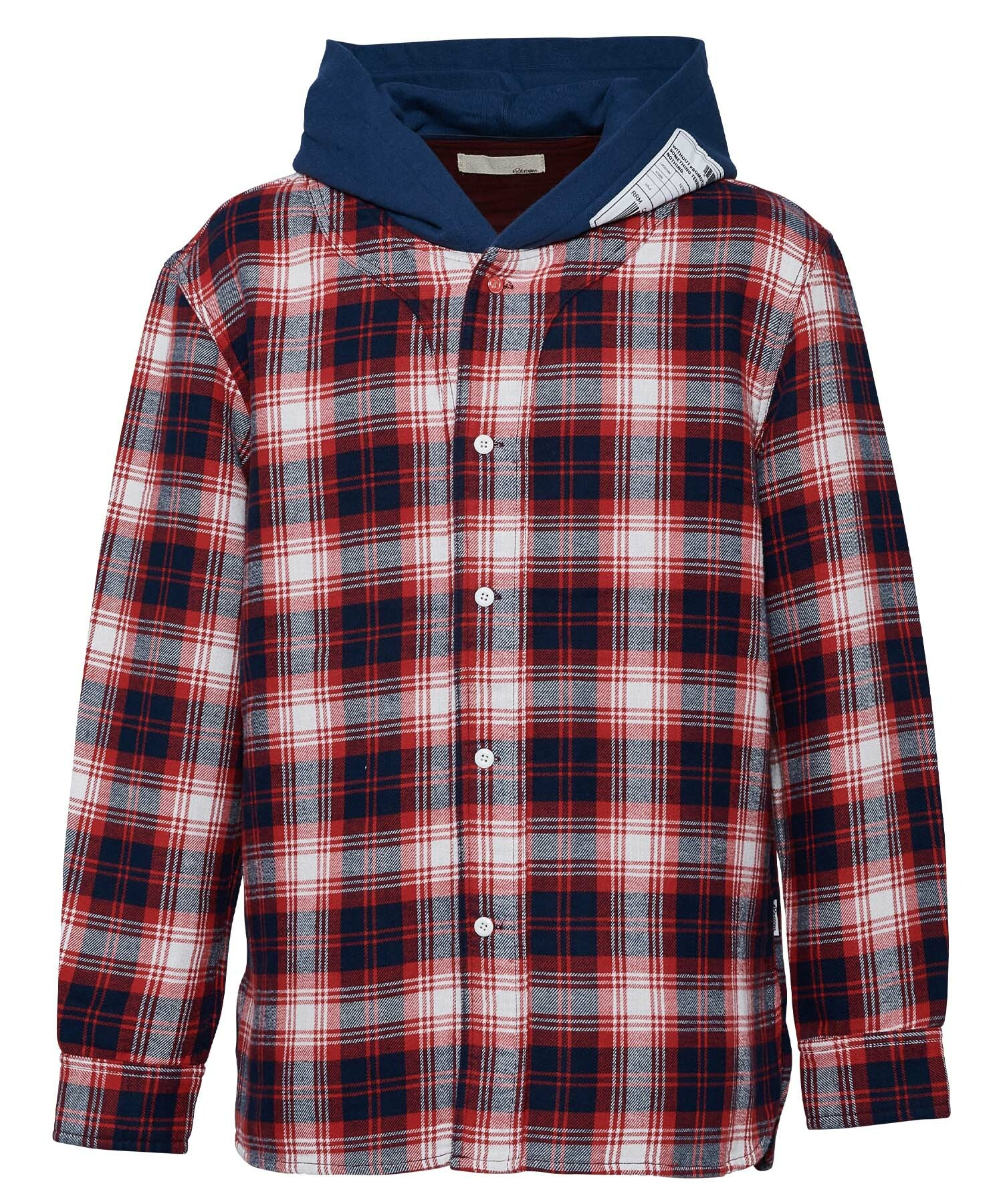 VINTAGE HOODIE CHECK SHIRTS[RES042]