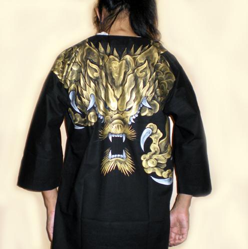 ダボ・鯉口シャツ「龍」