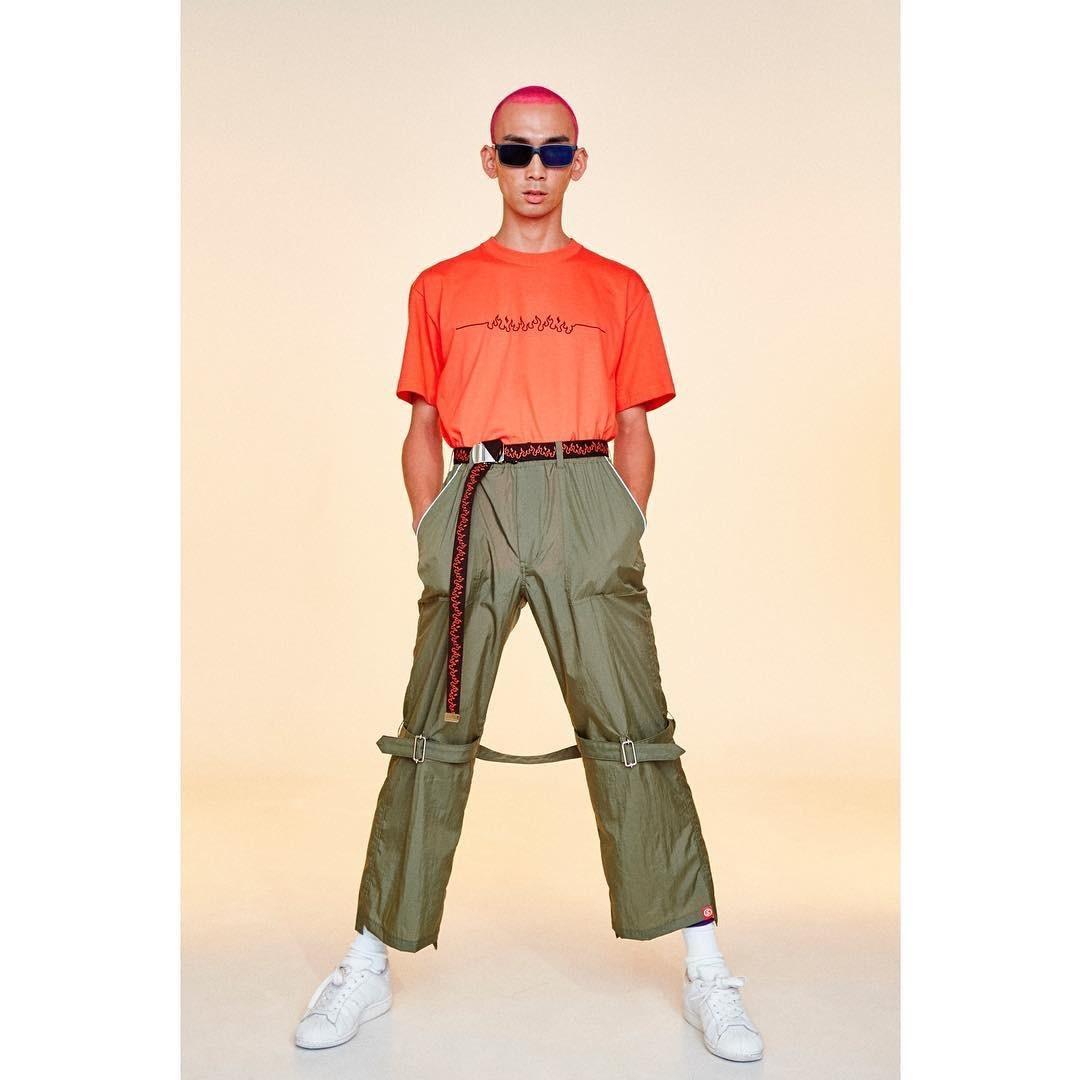 SKIN / nylon bondage pants(olive) - 画像5
