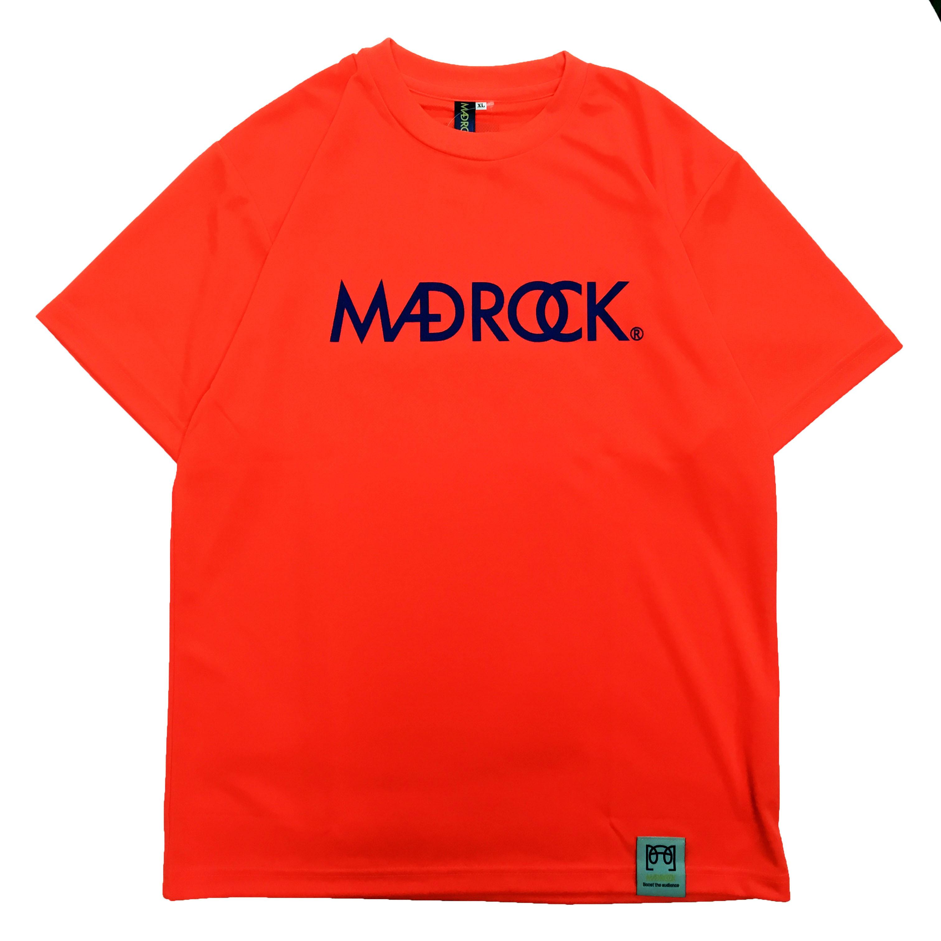 マッドロックロゴ Tシャツ/ドライタイプ/ネオンオレンジ&ネイビー
