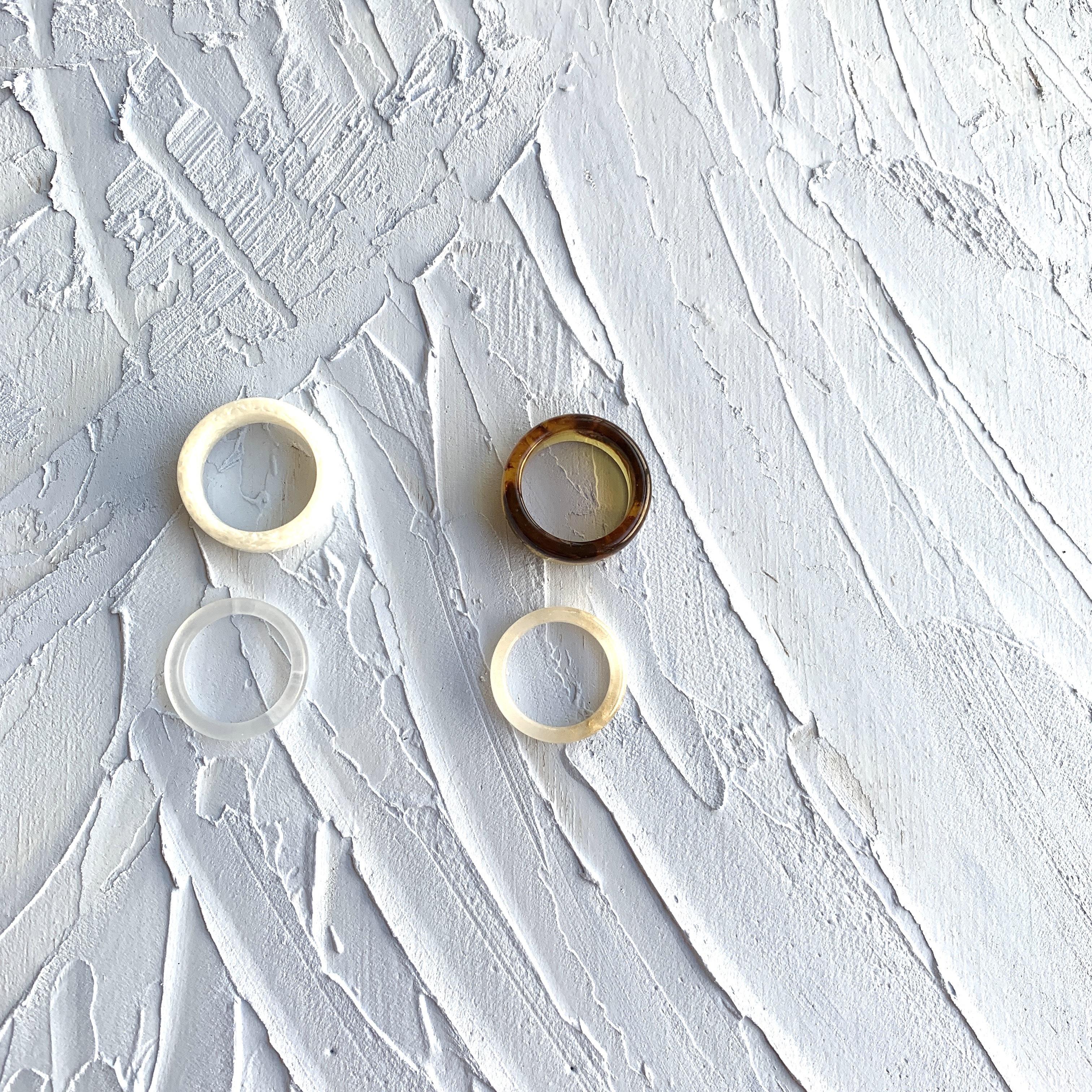 Acrylil Set Ring  | アクリルセットリング|#sp0175 |【STELLAPARK】