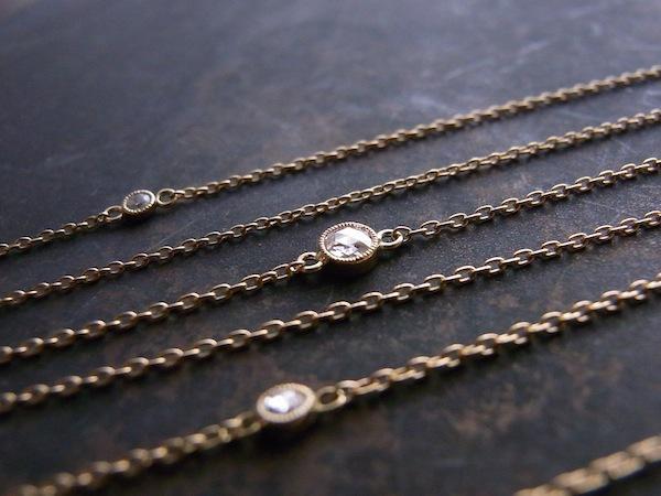 Diamond Gauge / K18×ローズカットダイヤ(Mサイズ)のネックレス