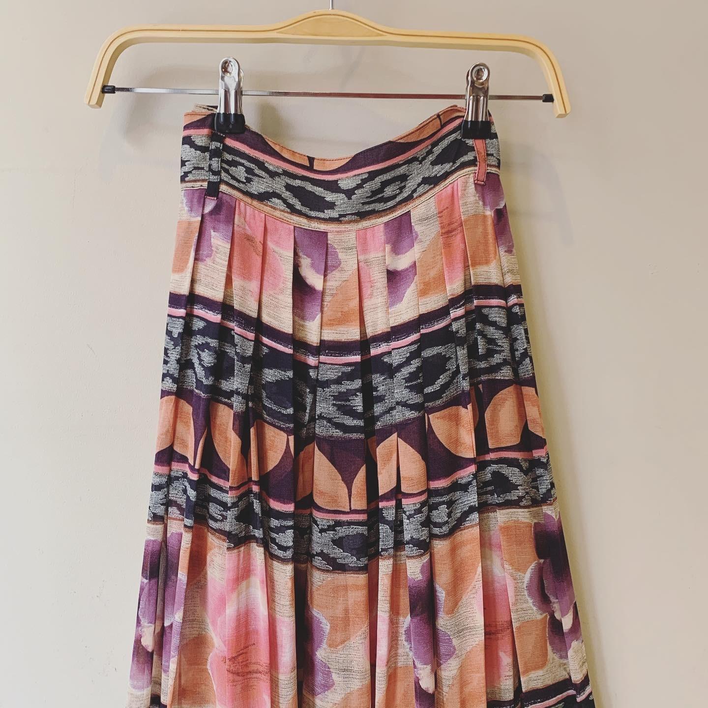 vintage Italy design sheer skirt