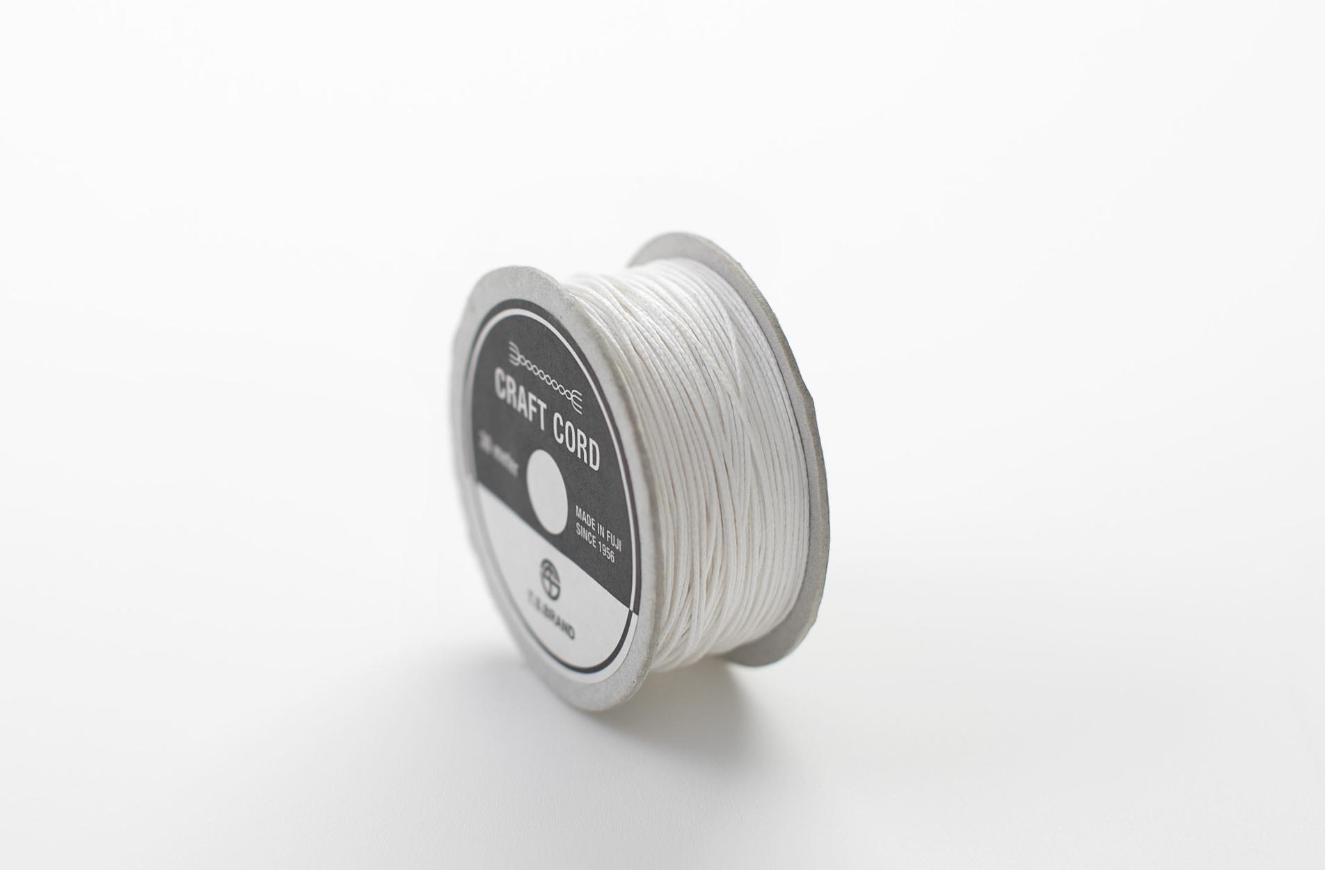 WAX CORD/ WHITE/ 0.5㎜/ 30meter