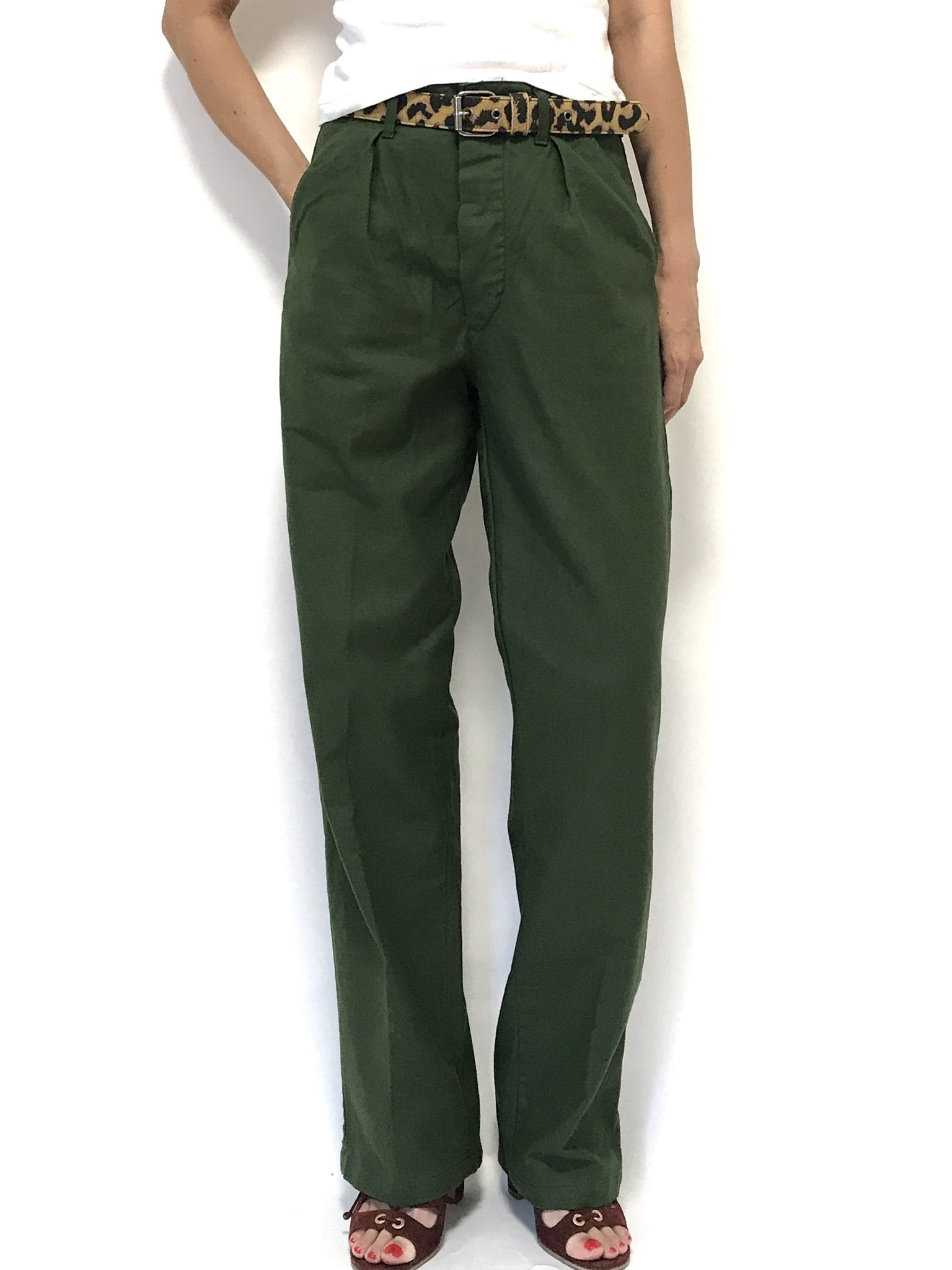 ③ 70's Swedish Army Utility Pants C44