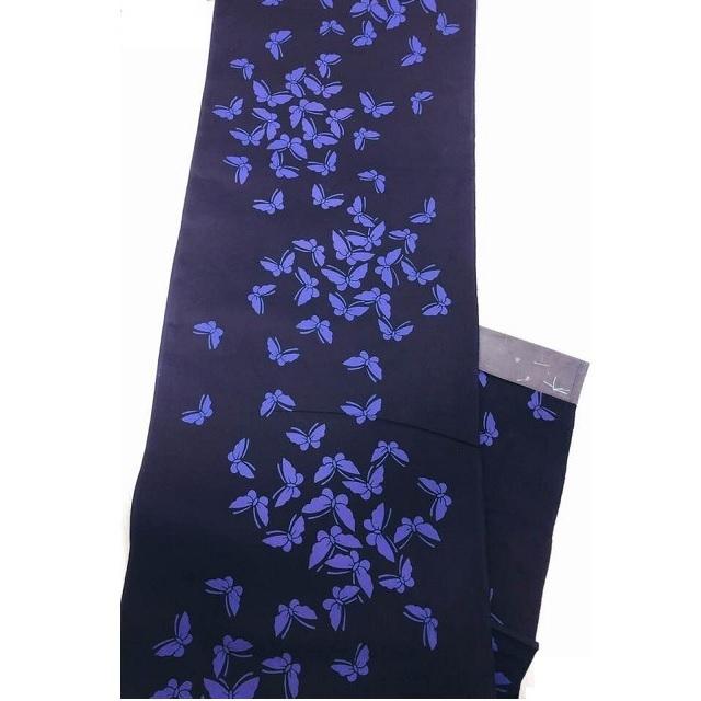 ★★浴衣反物B反 Rumi Rock風 蝶模様 紫 日本製