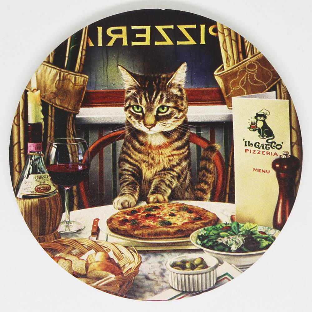 猫コースター(アンティークキャット)ディナー