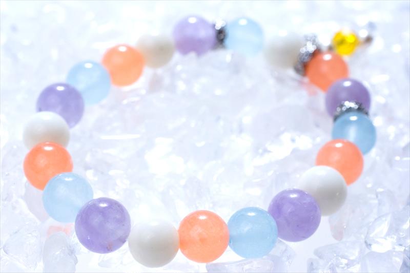 リラックス summer stone【パワーストーンブレスレット 】 - 画像1