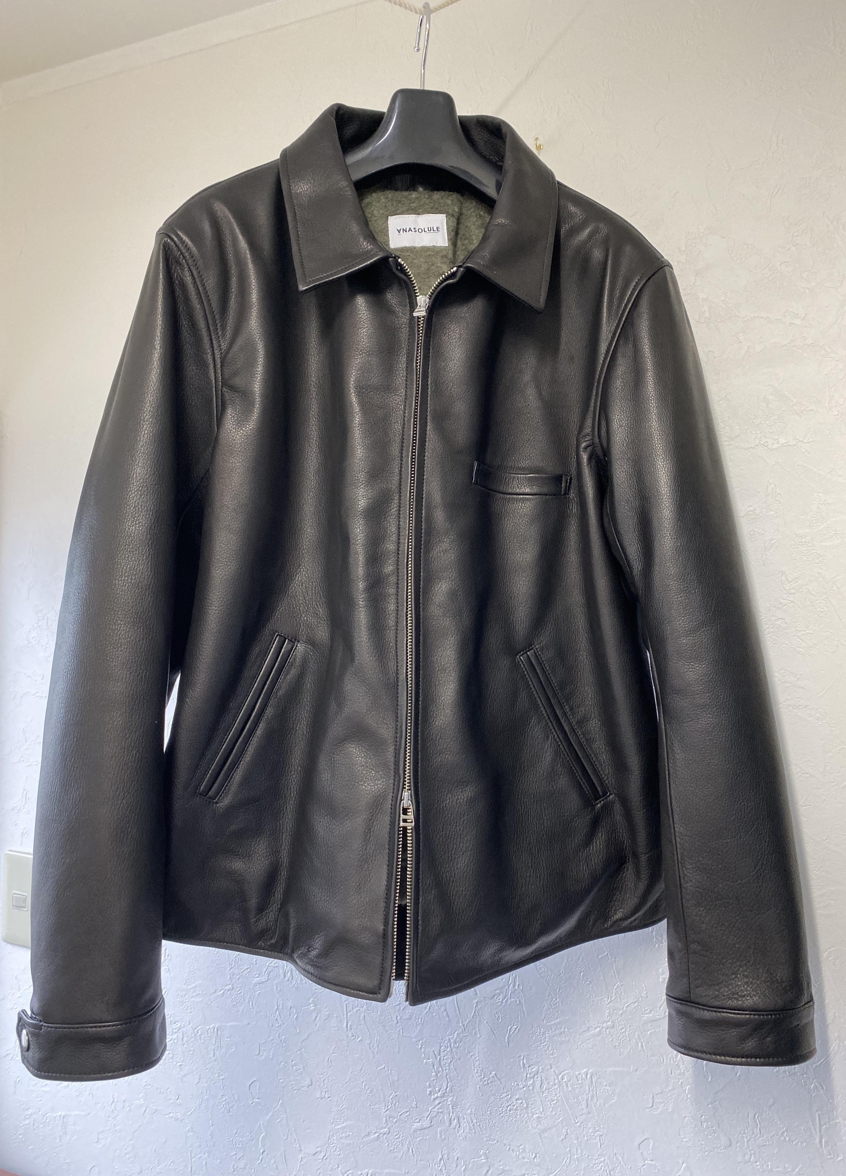 ANASOLULE  Single Leather Jacket